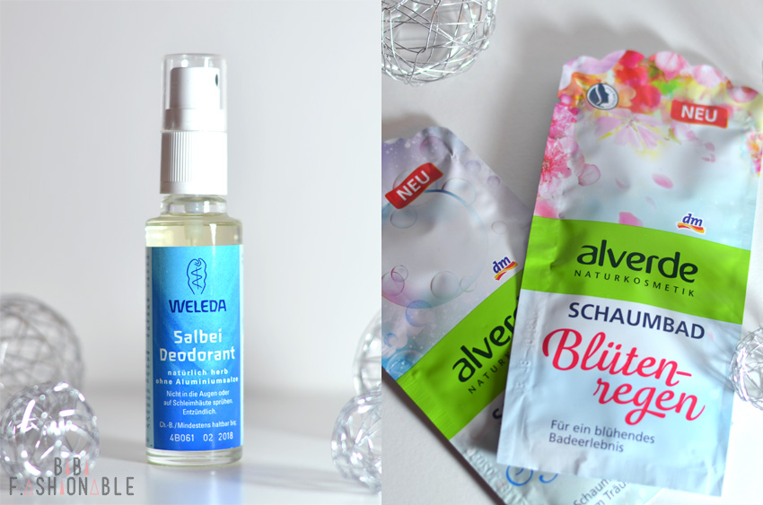 Weleda Salbei Deodorant Alverde Schaumbad Blütenregen Seifenblasentraum