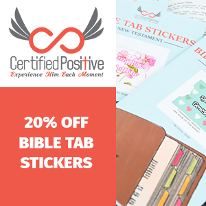 Certified Positive Bible Tab Stickers