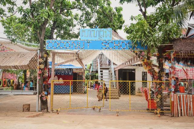 Coconut School, située sur l'île Koh Dach