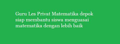 guru les privat matematika depok