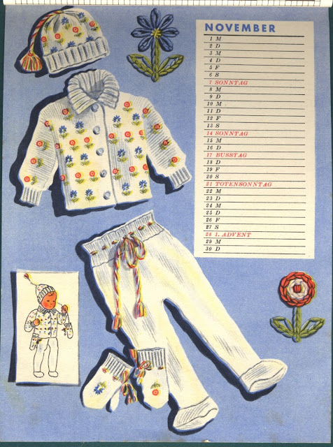 The Vintage Pattern Files : Free 1930's Knitting Pattern - A Toddlers Knitted Set