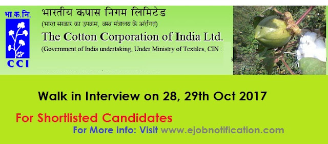 Cotton Corporation of India Walk-in Notification Office Clerk, Field Asst @cotcorp.gov.in