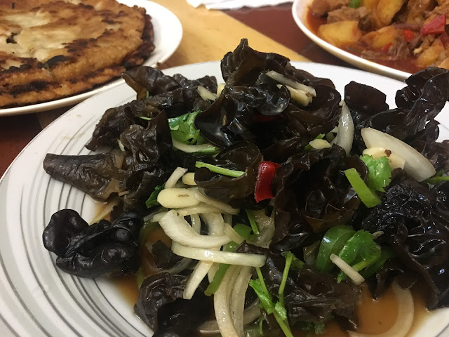 Black Fungus salad at Dolan Uyghur Food Heaven in Melbourne, Australia
