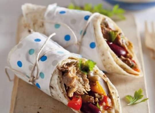 Sardine and Bean Wrap Recipe