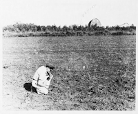 UFO Landing Site Photo at Gwinner, N.D. (pg 1) 10-26-1966