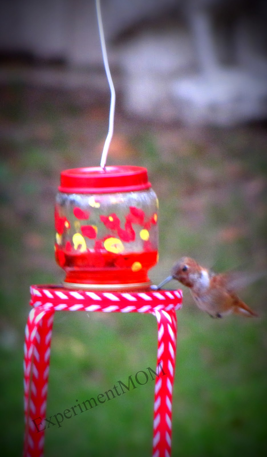 Baby Food Jar Hummingbird Feeder