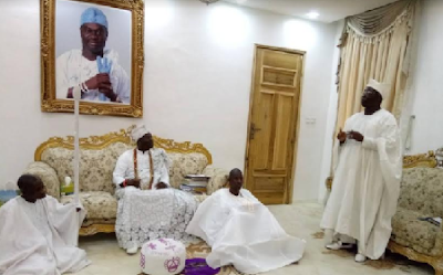 Photo of Gani Adams Visit to Ooni of IFE's palace