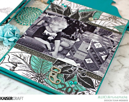 How to Make a Kaisercraft Christmas Mini Album by Alicia McNamara