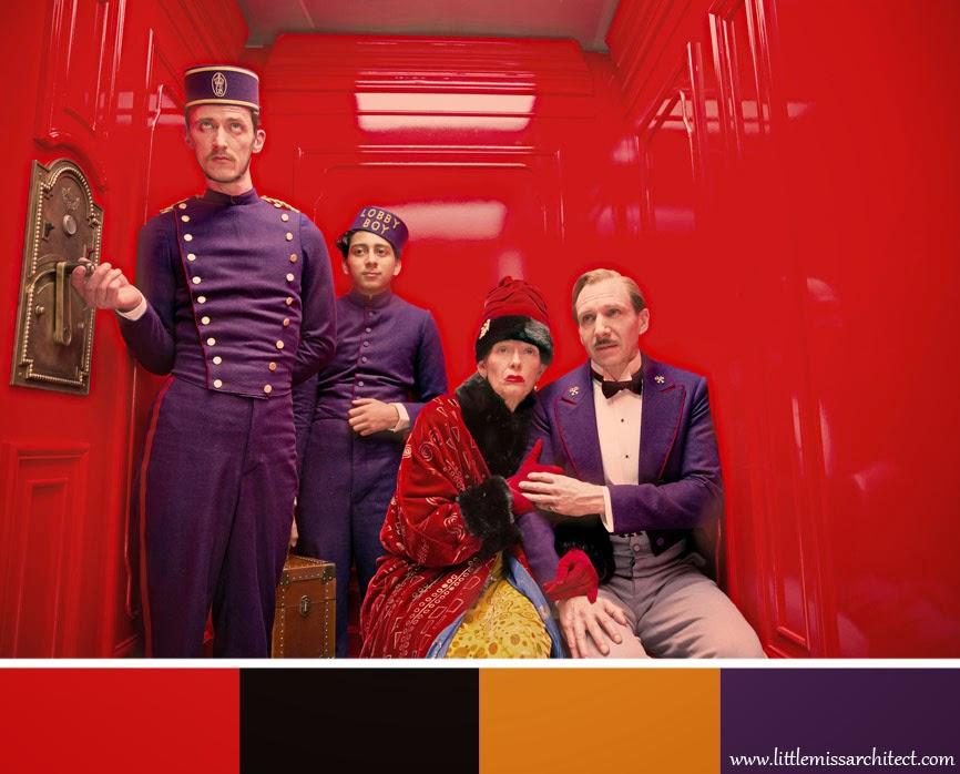 Grand Budapest Hotel, paleta kolorów, scenografia