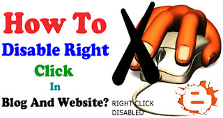 How to disable Right click on blogger or Wordpress | Stop right click on website