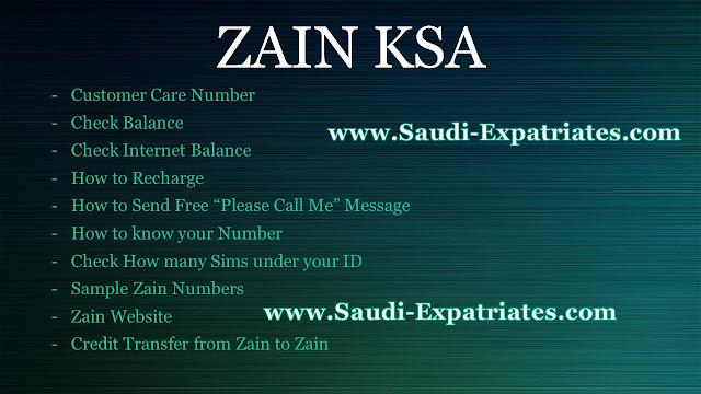 ZAIN MOBILE KSA
