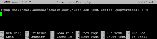 creat cron jop