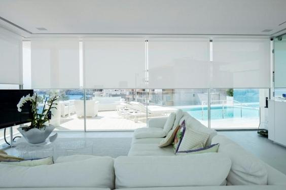 Tende a rullo 7 idee di styling home shabby home - Cucine con vetrate ...