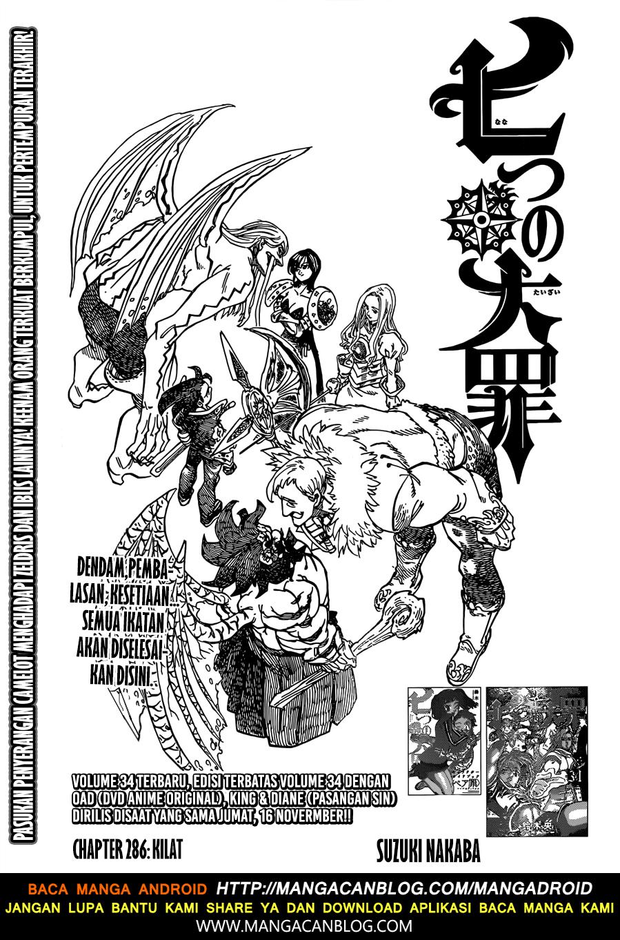 Nanatsu No Taizai Chapter 286 Bahasa Indonesia