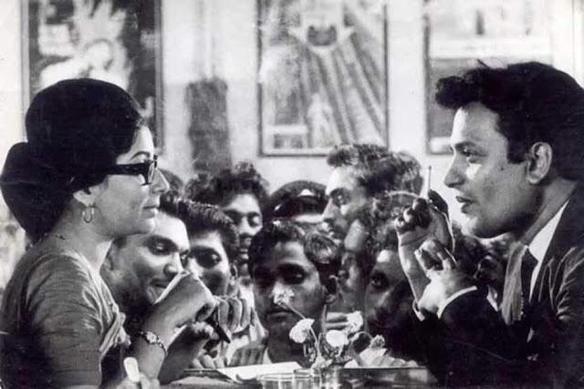 Sharmila Tagore (left) and Uttam Kumar in a still from Nayak