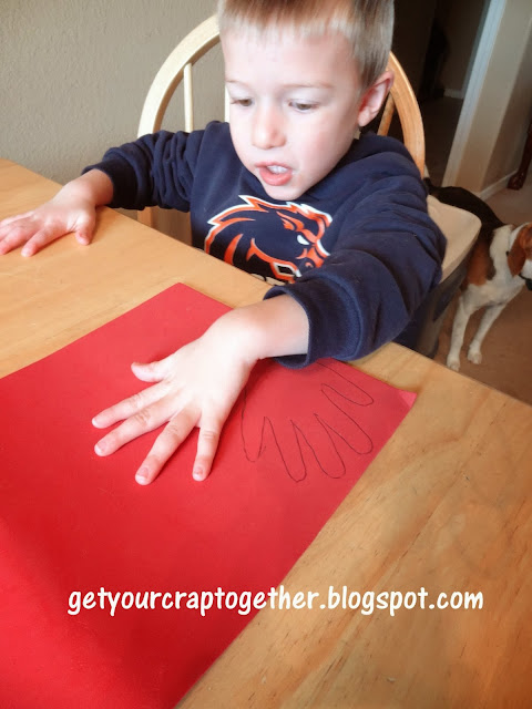 Scrap Fabric Thanksgiving Turkey Craft