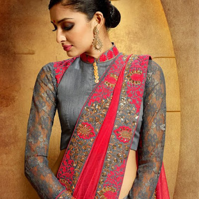 Indian-designer-embroidered-blouse-designs-for-plain-saree-8