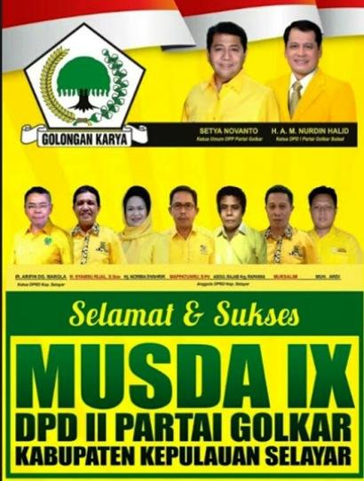 SUKSESKAN MUSDA IX, PARTAI GOLKAR KAB.KEP.SELAYAR 2017
