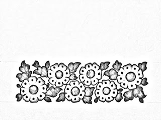 How to draw flowers border design for hand embroidery