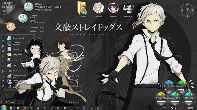 Bungou Stray Dogs Theme Win 7 by Bashkara