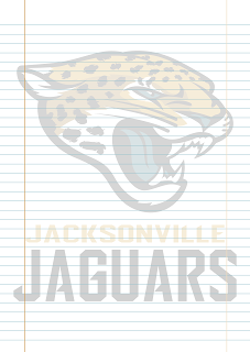 Papel Pautado Jacksonville Jaguars PDF para imprimir na folha A4