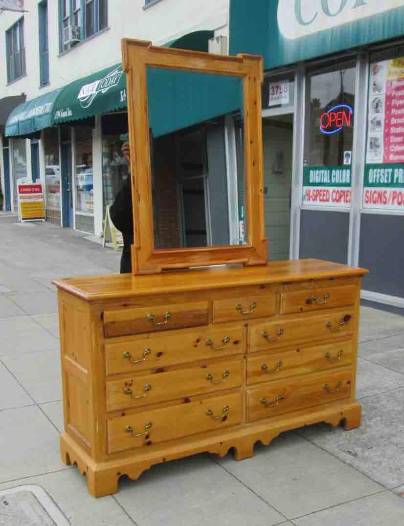 Sold Knotty Pine Thomasville Dresser With Mirror 195