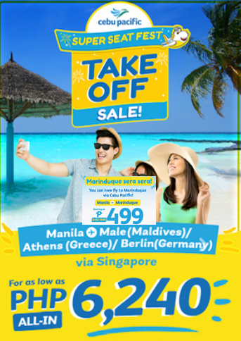 499php Base Fare Domestic and International starts 6000php+ All-in Airfare Take Off Sale