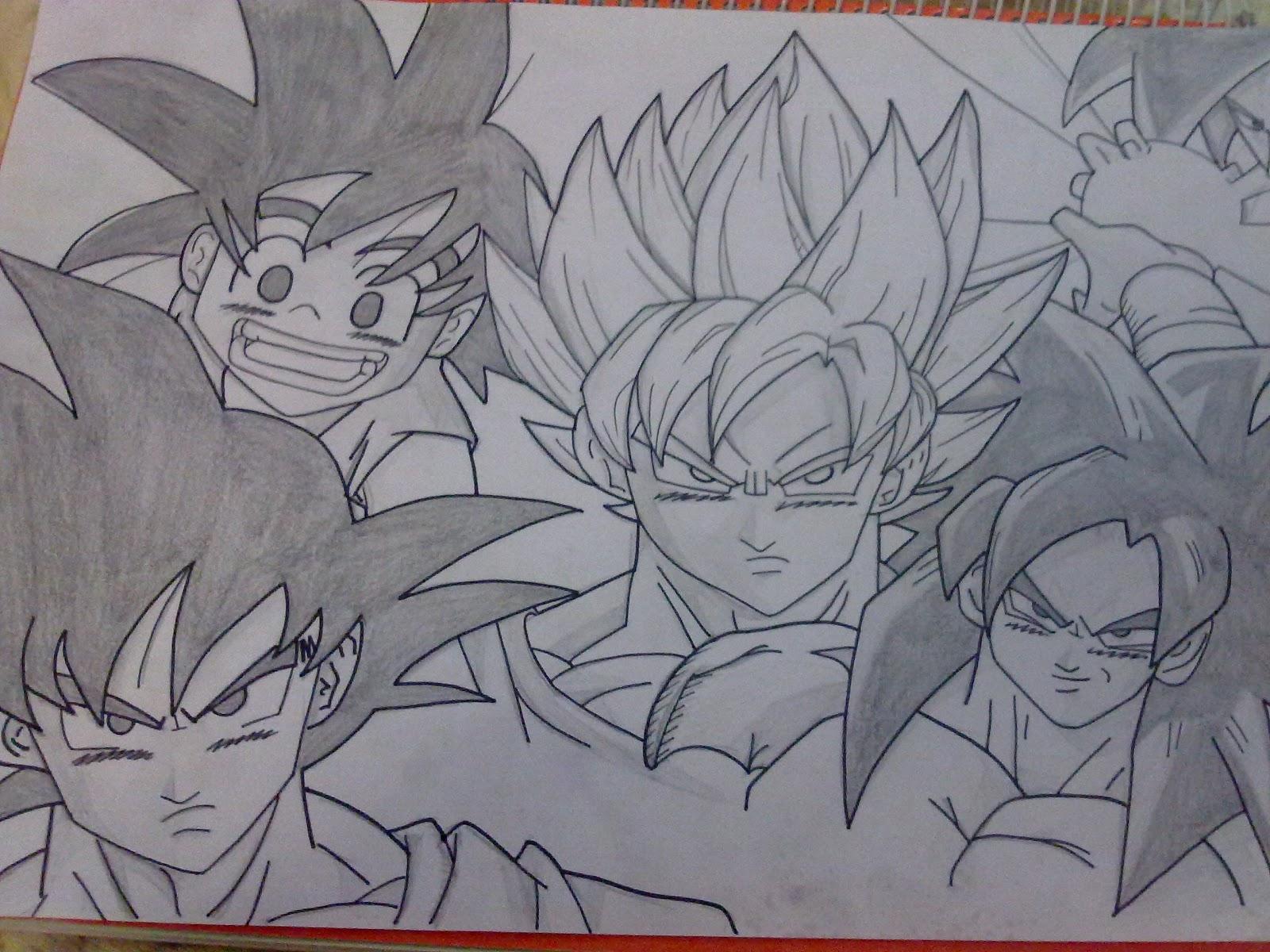 Goku Fase 4 Para Dibujar A Lapiz Imagui