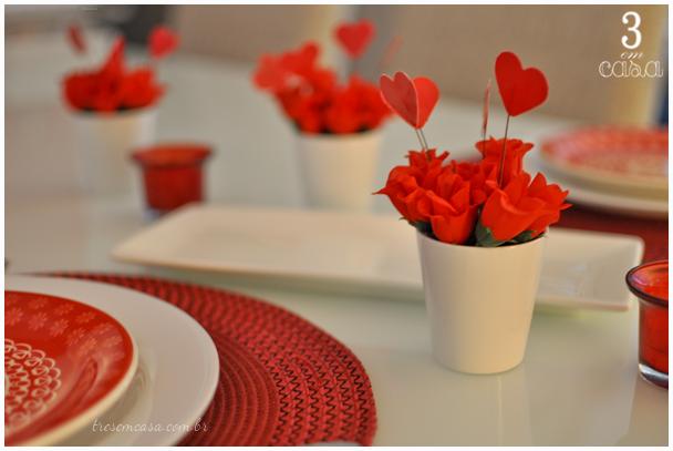 decoração mesa posta