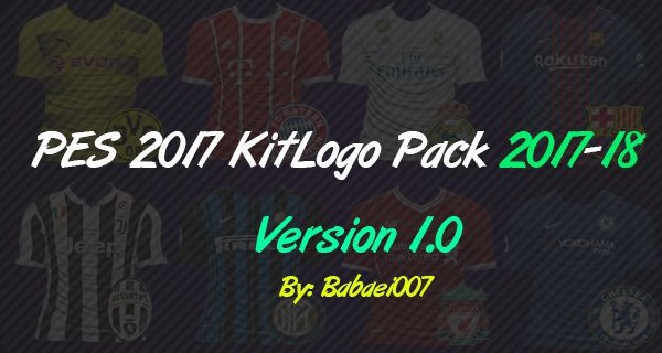 PES 2017 KitLogo Pack 2017-18 V1.0 By Babaei007
