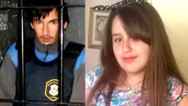 Micaela Ortega de 12 anos. Seu assassino (preso) a enganou por meio de Facebook.