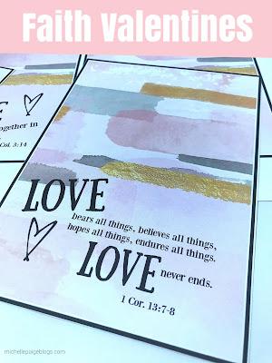 Scripture Valentines @michellepaigeblogs.com
