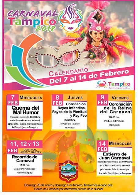 programa carnaval tampico 2018