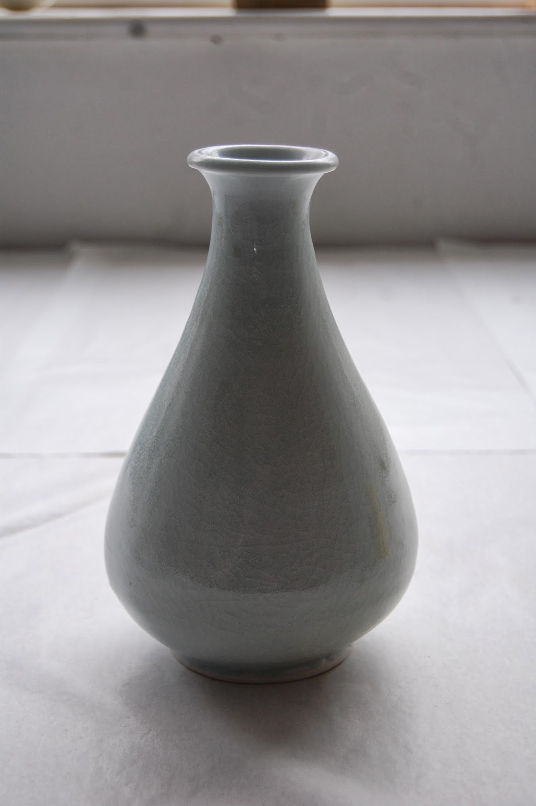 Michel Francois Porcelain bottle vase