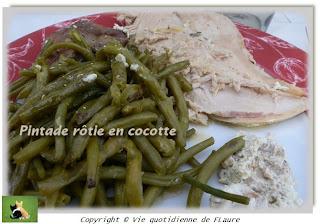 Vie quotidienne de FLaure: Pintade rôtie en cocotte