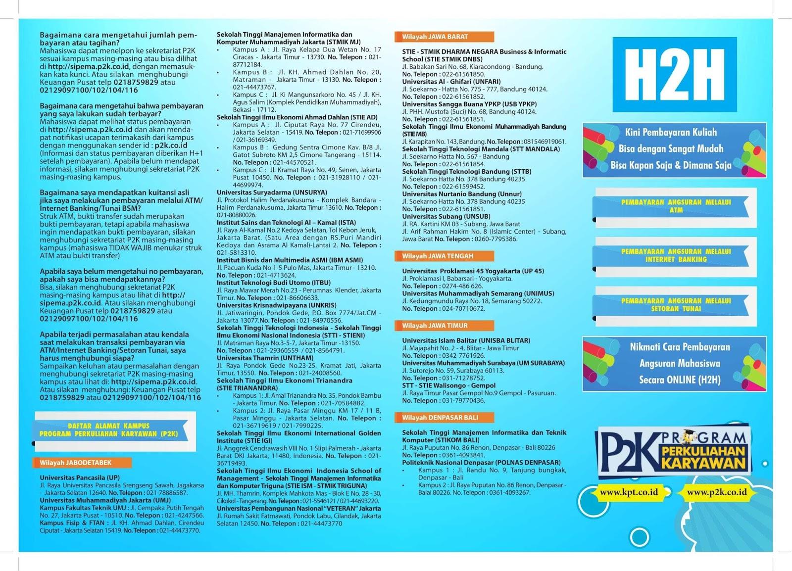 Sipema p2k - sistem pembayaran mahasiswa 2