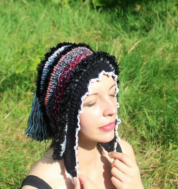 czapka na drutach z kolekcji ggw