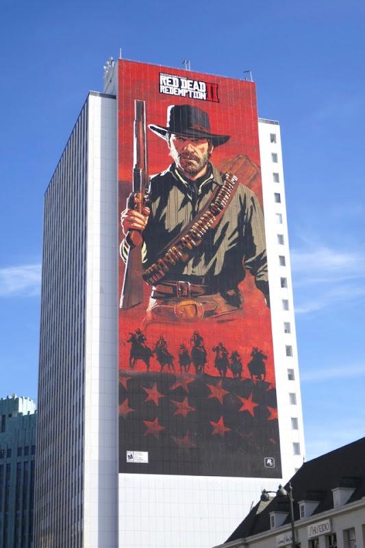 Giant Red Dead Redemption II billboard