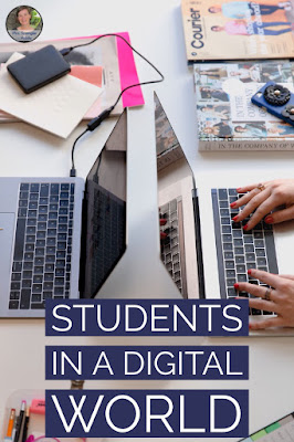 Help your middle and high school students become more digitally literate with these thoughts and ideas.  #teaching #classroom #technology