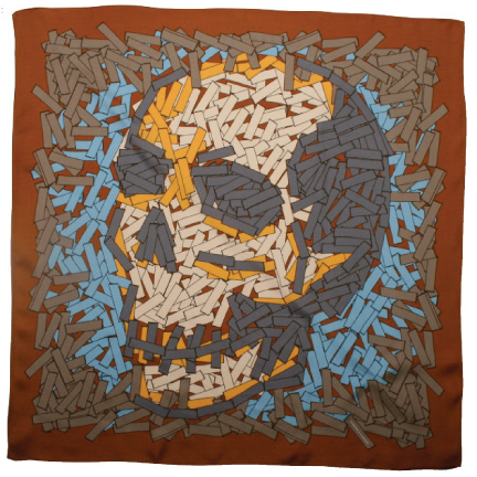 silk skull scarf by Vlieger and Vandam