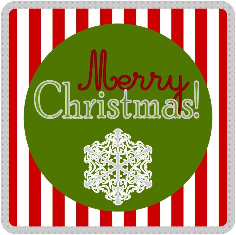 Merry Christmas Labels Printable