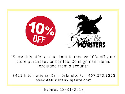 Coupon Discount 10% off in Gods and Monsters