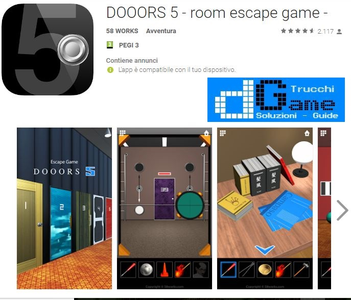 Soluzioni DOOORS 5 - room escape game livello 1 2 3 4 5 6 7 8 9 10 | Trucchi e Walkthrough level