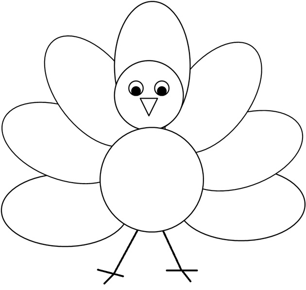 Coloring Pages Turkeys Preschool : Enjoy teaching english thanksgiving clipart poem
