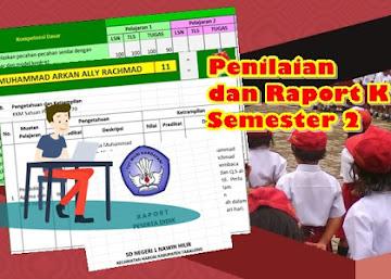 Aplikasi Penilaian dan Raport Kelas 1 dan 4 Kurikulum 2013 Semester dua Revisi Baru