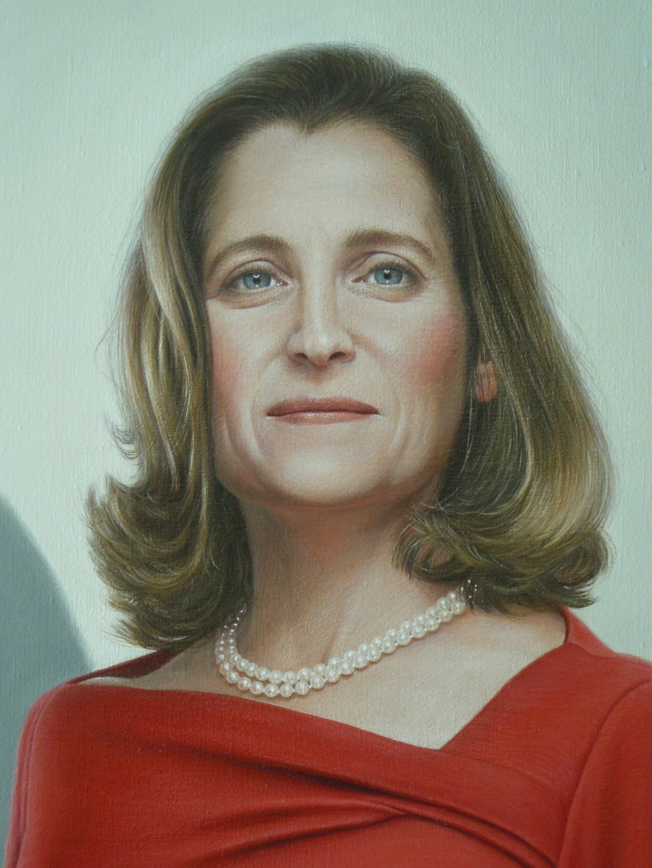 Leslie Watts Fine Art Chrystia Freeland S Portrait For