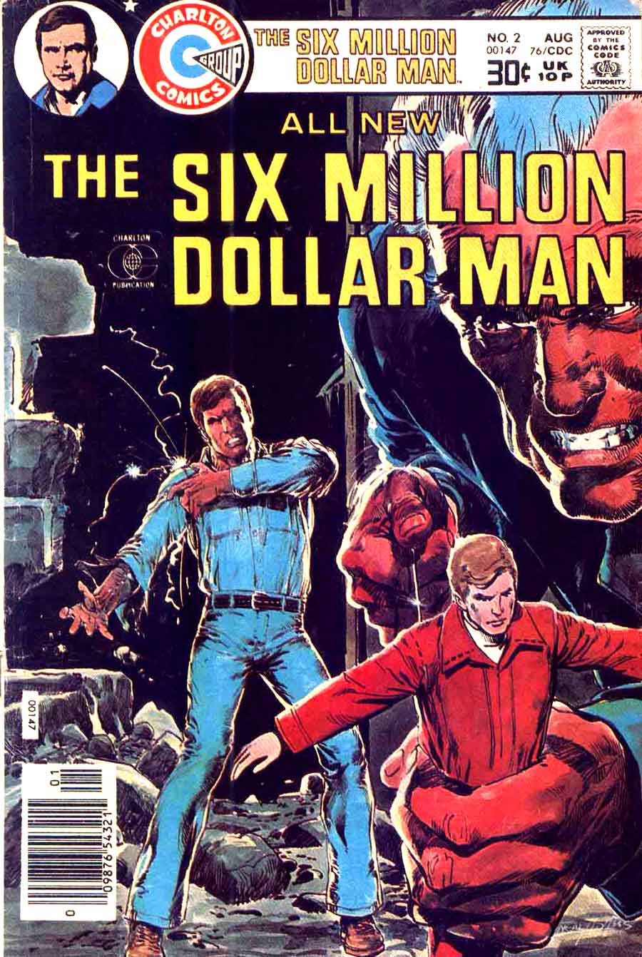 Six Million Dollar Man v1 #2 charlton 1970s bronze age comic book cover art by Neal Adams