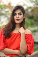 Rhea Chakraborty in Red Crop Top and Denim Shorts Spicy Pics ~  Exclusive 300.JPG