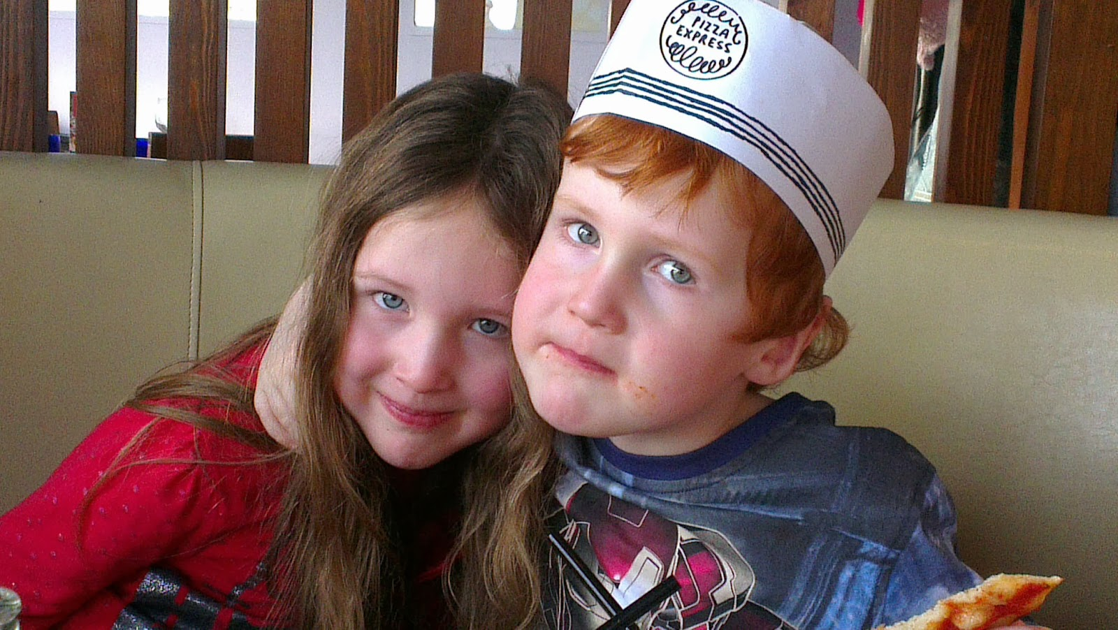 Caitlin and Ieuan at Pizza Express, Cardiff Bay