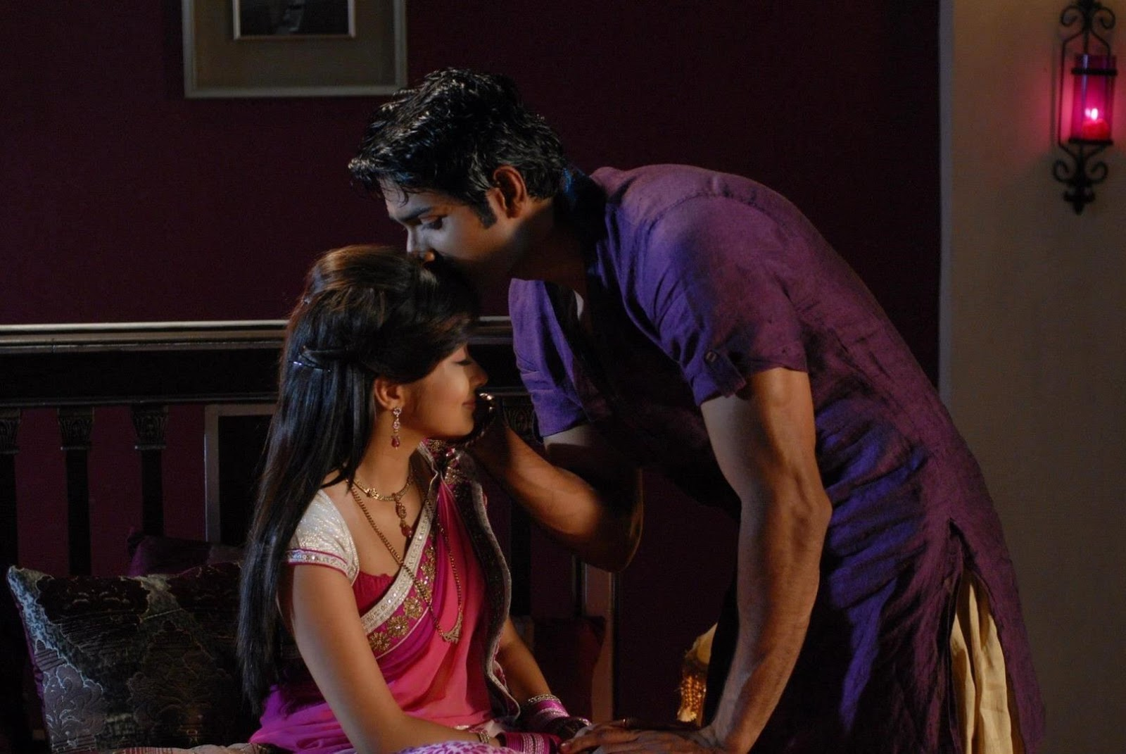 meethi and akash love scenes